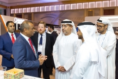 H.E. Dr.Mattar Al Neyadi,Undersecretary of the UAE Ministry of Energy and Industry at AGIS stall.